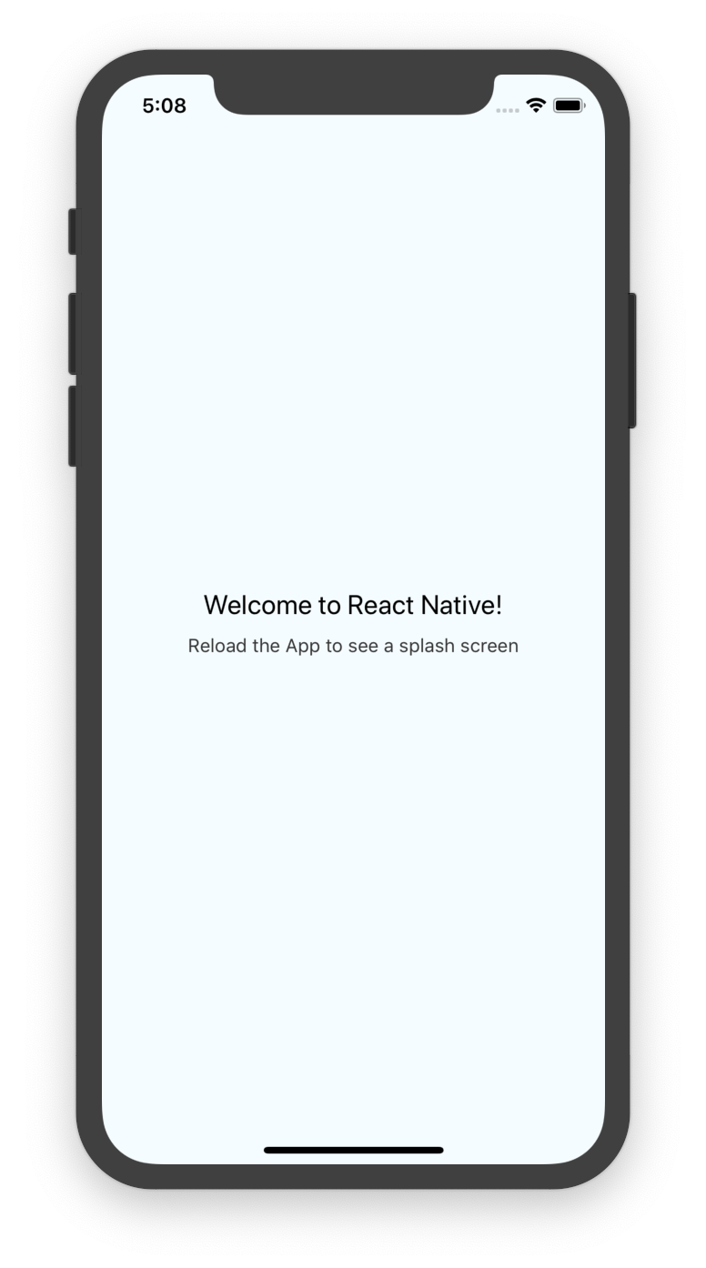 How to implement a splash screen in React Native | What did